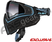 Push Unite Mask - Black/Blue w/ Gradient Clear Lens