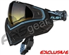 Push Unite Mask - Black/Blue w/ Gradient Yellow Lens