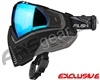 Push Unite Mask - Black/Grey w/ Chrome Blue Lens