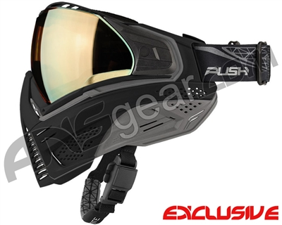 Push Unite Mask - Black/Grey w/ Chrome Gold Lens