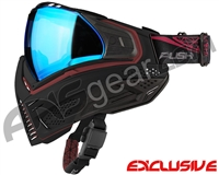 Push Unite Mask - Black/Red w/ Chrome Blue Lens