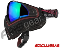 Push Unite Mask - Black/Red w/ Chrome Green Lens