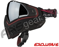Push Unite Mask - Black/Red w/ Chrome Silver Lens