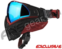 Push Unite Mask - Black/Red Camo w/ Chrome Blue Lens