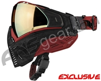 Push Unite Mask - Black/Red Camo w/ Chrome Gold Lens