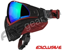 Push Unite Mask - Black/Red Camo w/ Chrome Green Lens