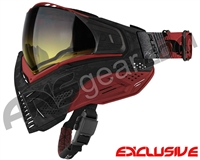 Push Unite Mask - Black/Red Camo w/ Gradient Yellow Lens