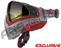 Push Unite Mask - Grey/Red w/ Gradient Yellow Lens