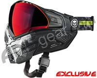 Push Unite Mask - Infamous Black Skull w/ Chrome Red Lens