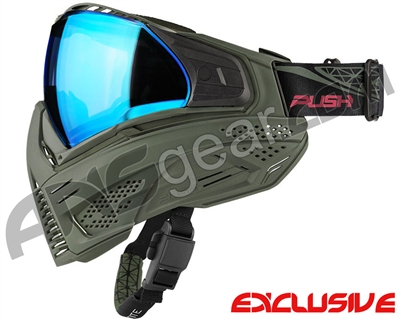 Push Unite Mask - Olive/Olive w/ Chrome Blue Lens