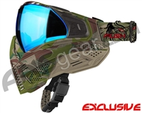 Push Unite Mask - Predator Camo w/ Chrome Blue Lens