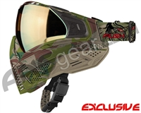 Push Unite Mask - Predator Camo w/ Chrome Gold Lens