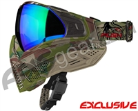 Push Unite Mask - Predator Camo w/ Chrome Green Lens