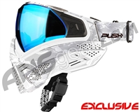 Push Unite Mask - White Camo w/ Chrome Blue Lens