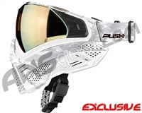 Push Unite Mask - White Camo w/ Chrome Gold Lens