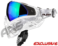 Push Unite Mask - White Camo w/ Chrome Green Lens