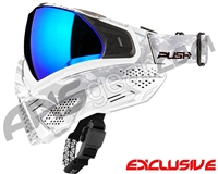 Push Unite Mask - White Camo w/ Chrome Purple Lens