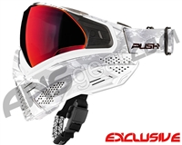 Push Unite Mask - White Camo w/ Chrome Red Lens