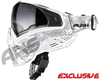 Push Unite Mask - White Camo w/ Gradient Clear Lens