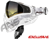 Push Unite Mask - White Camo w/ Gradient Yellow Lens