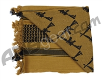 Rothco Shemagh Tactical Desert Scarf - Crossed Rifles Coyote