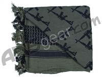 Rothco Shemagh Tactical Desert Scarf - Crossed Rifles Foliage