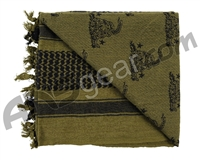 Rothco Shemagh Tactical Desert Scarf - Snake Olive Drab