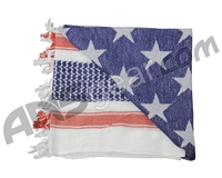 Rothco Shemagh Tactical Desert Scarf - US Flag White/Red/Blue