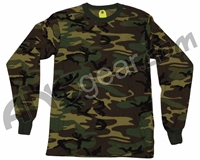 Rothco Long Sleeve T-Shirt - Woodland Camo