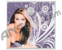 Stinger Paintball Designs Halo Too/Halo B Back Plate - Carmen Electra 1 - Grey