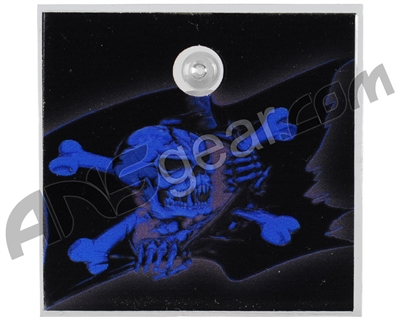 Stinger Paintball Designs Halo Too/Halo B Back Plate - Pirate Flag - Blue