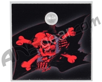 Stinger Paintball Designs Halo Too/Halo B Back Plate - Pirate Flag - Red