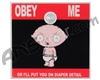 Stinger Paintball Designs Halo Too/Halo B Back Plate - Stewie - Obey Me