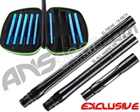 Smart Parts Freak XL Barrel Complete Kit w/ Blue Inserts - Autococker - Black