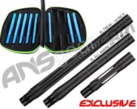 Smart Parts Freak XL Barrel Complete Kit w/ Blue Inserts - Autococker - Dust Black