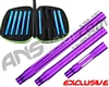 Smart Parts Freak XL Barrel Complete Kit w/ Blue Inserts - Autococker - Electric Purple