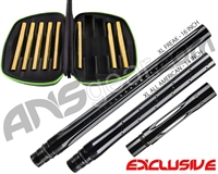 Smart Parts Freak XL Barrel Complete Kit w/ Gold Inserts - Autococker - Black