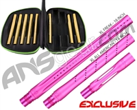 Smart Parts Freak XL Barrel Complete Kit w/ Gold Inserts - Autococker - Dust Pink