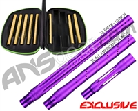 Smart Parts Freak XL Barrel Complete Kit w/ Gold Inserts - Autococker - Electric Purple
