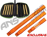 Smart Parts Freak XL Barrel Complete Kit w/ Gold Inserts - Autococker - Sunburst Orange