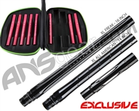 Smart Parts Freak XL Barrel Complete Kit w/ Red Inserts - Autococker - Black