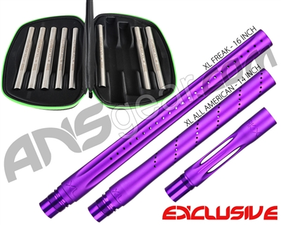 Smart Parts Freak XL Barrel Complete Kit w/ Stainless Steel Inserts - Autococker - Electric Purple