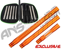 Smart Parts Freak XL Barrel Complete Kit w/ Stainless Steel Inserts - Autococker - Sunburst Orange