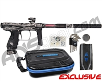SP Shocker AMP Electronic Paintball Gun w/ The Works Engraving - Black/Black