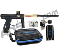 SP Shocker XLS Paintball Gun - Black w/ Gold Accents