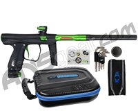 SP Shocker XLS Paintball Gun - Black w/ Green Accents