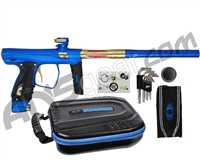 SP Shocker XLS Paintball Gun - Blue w/ Gold Accents