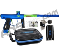 SP Shocker XLS Paintball Gun - Blue w/ Green Accents