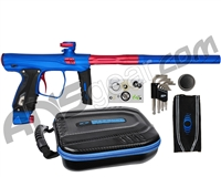 SP Shocker XLS Paintball Gun - Blue w/ Red Accents