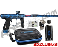 SP Shocker XLS Paintball Gun - Polished Acid Wash Blue
